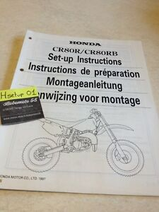 Honda CR80R CR80RB Cr 80 R RB CR80 Instrucciones Preparation Instalacion