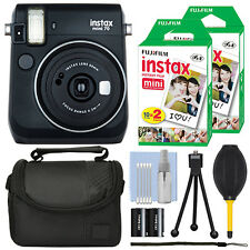 Fujifilm Instax Mini 70 Fuji Instant Film Camera Black + 40 Film Bundle