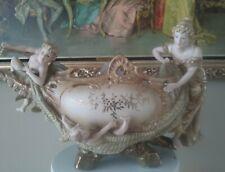 Amphora Vienna Art Nouveau Porcelain Center Piece Boat Shape Bowl Stunning 1900s