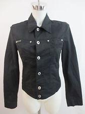 Dolce & Gabbana Leichte Jacke Jeansjacke Schwarz Gr.XS Klassischer Schnitt TOP