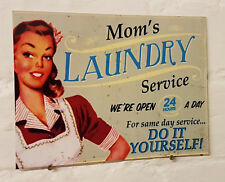 Moms Laundry Service Retro metal Aluminium Sign vintage