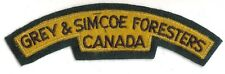 Canadian Army Grey & Simcoe Foresters Battle Dress Shoulder Flash