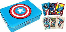 Playing Card boys - Marvel - Captain America metal box Poker Licensed Toys