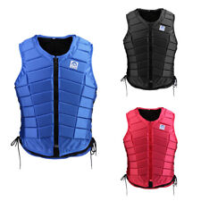 Black Eva Padded Safety Equestrian Horse Riding Vest Body Protector Women, M