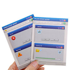 2 x Personalized Funny Error Delete Pop-Up Window Sticky Notes Memo Post It Note