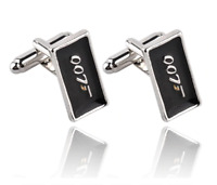 007 James Bond Logo Cufflinks Mens Movie Film Silver Jewellery