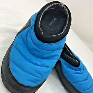 Columbia Mens Omni Heat Packed Out Slippers Blue Round Toe Slip-On Size 15