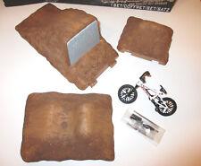 FLICK TRIX - Set: BMX Dirt Bike + Step Up Tremplin + Doubles für Modell Diorama!