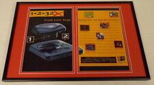 1995 Sega 32x System 12x18 Framed ORIGINAL Vintage Advertising Display