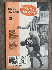 1977 VFL AFL football record Richmond Tigers V Geelong Cats May 28 1977