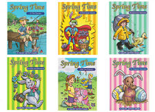 CASE OF 96 SPRING COLOR/ACTIVITY BOOK - 72 PAGES - NEW - FREE SHIPPING  #ZPY-CBS