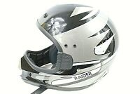 RAIDER MENS HELMET SIZE LARGE adult  black and silver very nice condition