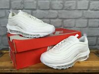NIKE LADIES UK 5 EU 38.5 AIR MAX 97 TRIPLE WHITE BULLET OG TRAINERS RRP £145