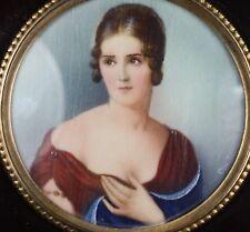 Miniaturmalerei auf Bein Lupenmalerei Portrait of Maria Pauline Bonaparte