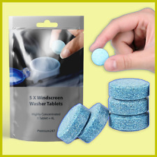 5x Premium Windscreen Wash Tablet Car Van Window Concentrated Wash Fluid for 20L