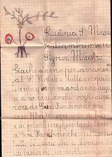LETTERINA NATALE DA GIUSTENICE SAVONA PER IL MAESTRO NEL 1934 S.MICHELE C10-200