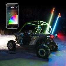 ATV UTV Offload 5ft 2pc LED Whip Flag Kit Smartphone App Controlled Bluetooth