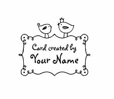 PERSONALIZED  CUSTOM MADE  RUBBER STAMPS UNMOUNTED C31