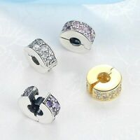 Lock Spacer Stopper Sterling Silver Suits Clip Charm Bead Bracelet NEW