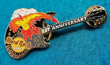 STAFF CATANIA SICILY 1ST ANNIVERSARY MT ETNA VOLCANO GUITAR Hard Rock Cafe PIN
