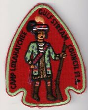 BSA Patch Camp Tanah Keeta 1970s Arrowhead, Gulf Stream Florida, Aal Pa Tah 237