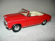 1957 PEUGEOT 403 CABRIOLET RED 1:18 SCALE WELLY OPENING HOOD, DOORS & TRUNK