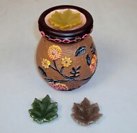 Aroma Therapy,Melting Pot, Tart Burner Diffuser, Ceramic Floral,3 Sented Wax's