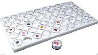 50 White Foam Gem Jars Gemstone Storage Display Tray Insert