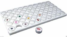 50 White Foam Gem Jars Gemstone Storage Display Tray Insert