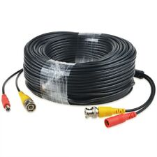 150ft Black Bnc Video Power Siamese Cable For Analog Ahd Cvi Cctv Camera Dvr Kit