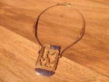 Custom Made Silver copper brass & Lapis Lazuli Necklace *Worldwide*