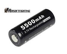Soshine Li-ion 26650 3.7V 5500mAh Protected Battery for SureFire XTAR