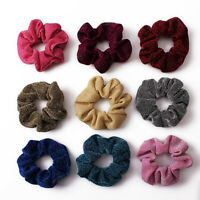 Glitter Metallic Scrunchies Elastic Ponytail Shiny Rubber Band Hair Ties Rope AU