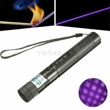 Purple Laser Pointer Pen Visible Beam Light Adjustable Focus with Star Cap 5mW