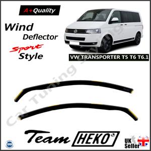 VW Transporter T5 T6 T6.1 VAN 2/5D 2003-onwards Wind Deflectors 2-pc HEKO TINTED