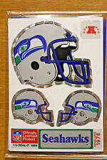 NFL Seattle Seahawks 1989 U-Seal-It Stickers: Helmet, Hot Shot & Huddle Pack