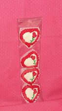 Heart Edible Sugar  Cupcake Toppers,Valentines,Royal Icing, 1 1/2 in.DecoPac