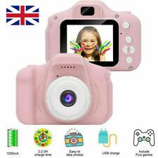 "Pink Kids Digital HD Camera 2"" Color Display Children Birthday Gift+16GB SD Card"