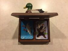 Price Products Duck Playing Cards in Wooden Case w/Duck on Top, 1981