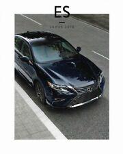 2018 18  Lexus ES original sales brochure