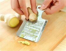 Practical Kitchen Ginger Wasabi Garlic Grater Shredder Grinder Stainless Steel