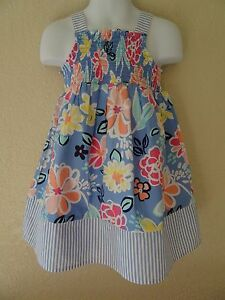 NWT GYMBOREE SIZE 3 3T FLORAL DRESS SUGAR REEF NEW SUNDRESS VACATION