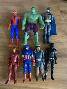 Marvel  Figures Bundle Hulk Iron Man Spider-Man Batman Star Wars