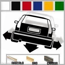 adesivo sticker fiat PUNTO 1 MK1 sporting  tuning down-out dub prespaziato,auto
