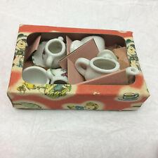 Vintage Child's Porcelain Toy Teapot Set Made in Japan Bird Design