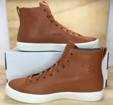 Converse All Star Modern High Top Brown Leather Casual Shoes 156587C Men Size 10