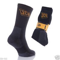 12 Mens Work Official JCB DIY Thermal Black Socks Reinforced Heel&Toe UK 6 - 11