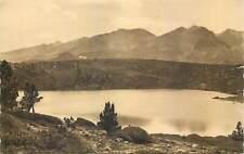 cpa France massif carlitte lac noir lake mountain peak range nature