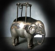 VERY RARE STERLING SILVER NOVELTY PIN CUSHION as an ELEPHANT with HOWDAH- 1909
