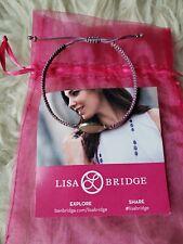 LISA BRIDGE ADJUSTABLE PINK CORD BRACELET...ROSE QUARTZ & STERLING SILVER...NEW!